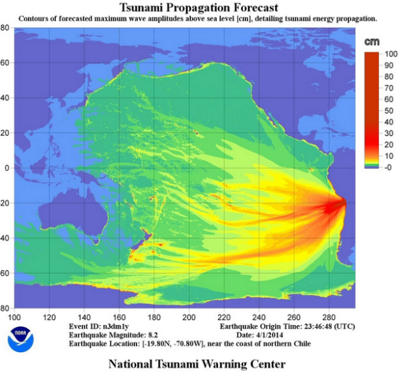 Tsunami-Vorhersage Chile