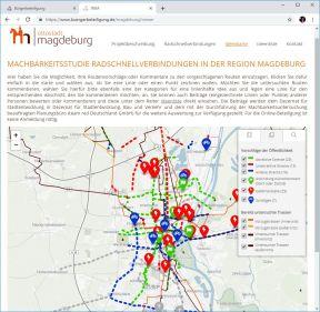 Beispiel Magdeburg, Radschnellverbindungen