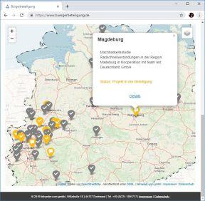 Übersichtskarte über alle Projektee