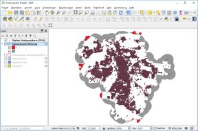 Symetrische Differenz (Stadtgrenze ausgeblendet): Auf roten Flächen sind Windräder möglich